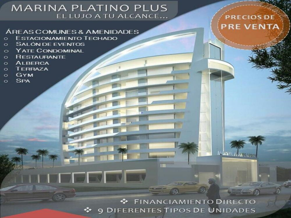 Marina Platino Plus, condo project with a yacht.